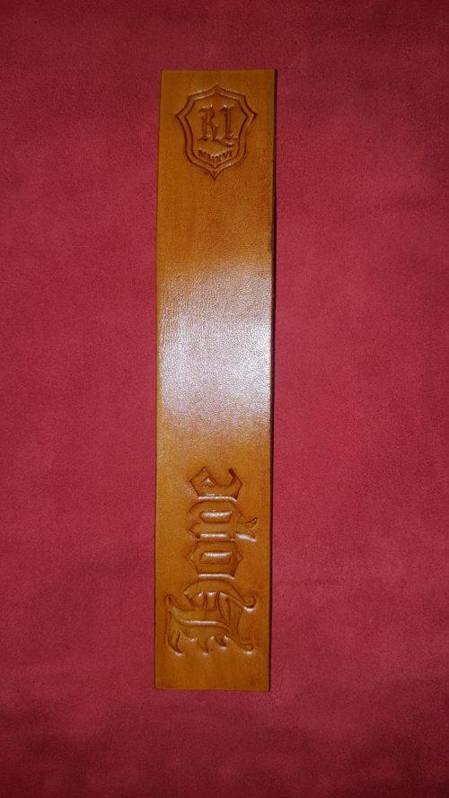 Hope Bookmark Camel Tan - Leather