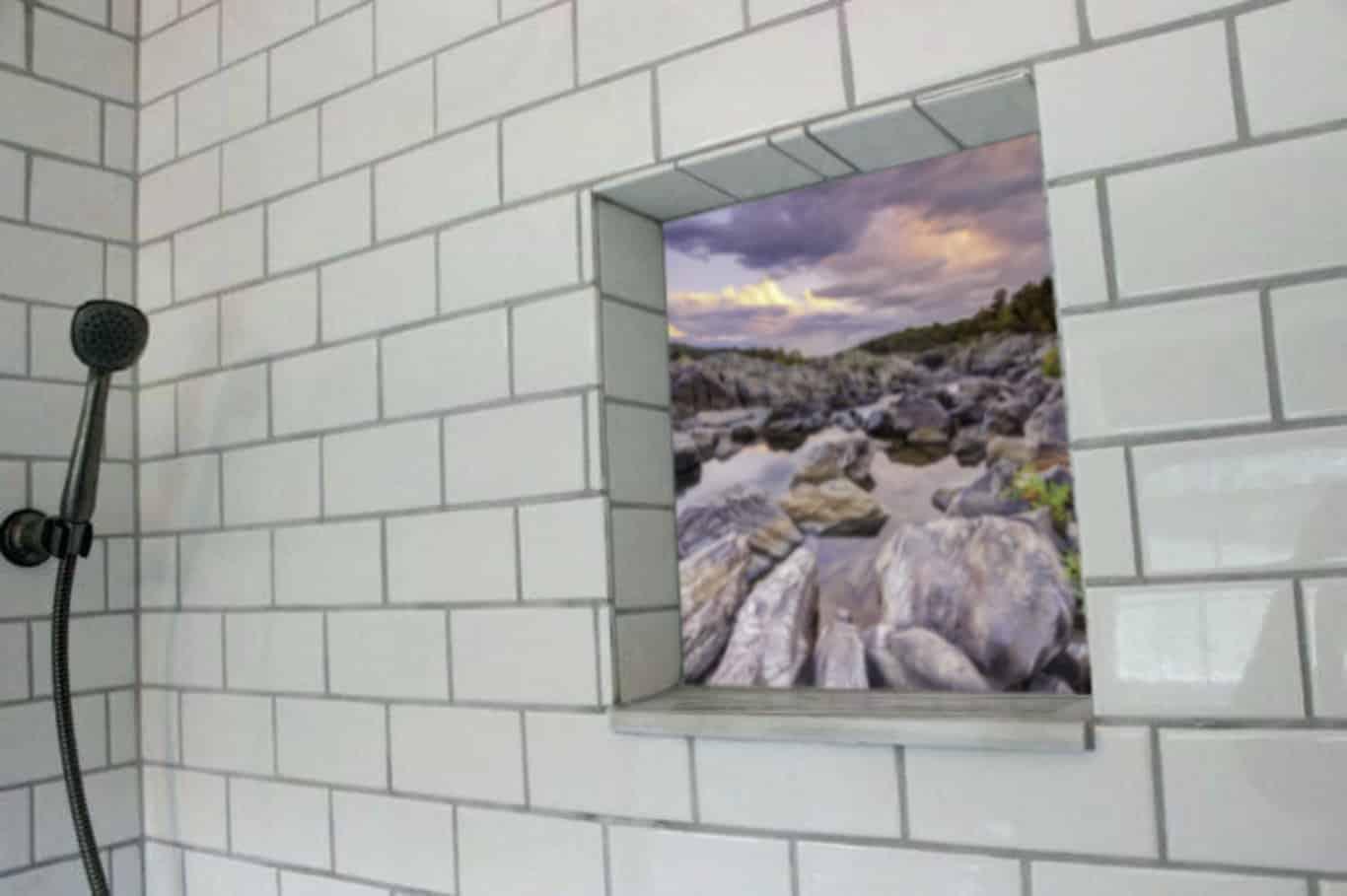 Digital Gall in Shower Niche