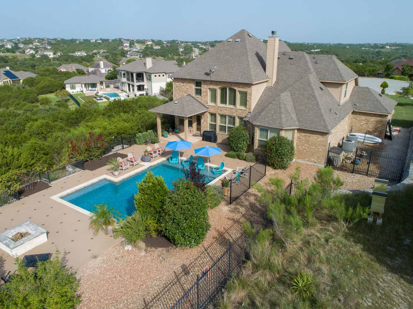 Drone Real Estate Photography Services -Aerial Drone Shot of a nice house