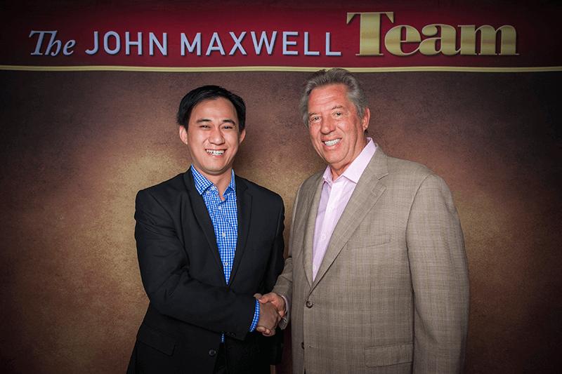 photo with john