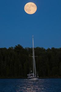Blue moon sailboat