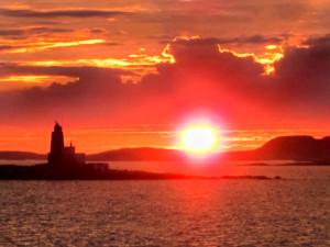 327-Norwegian coastline sunset (Best of Merit)