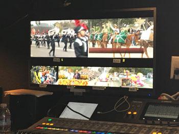 A Pro Angle Media monitor in Production Trailer MU 17