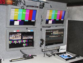 MU 15 production truck interior - Proangle Media