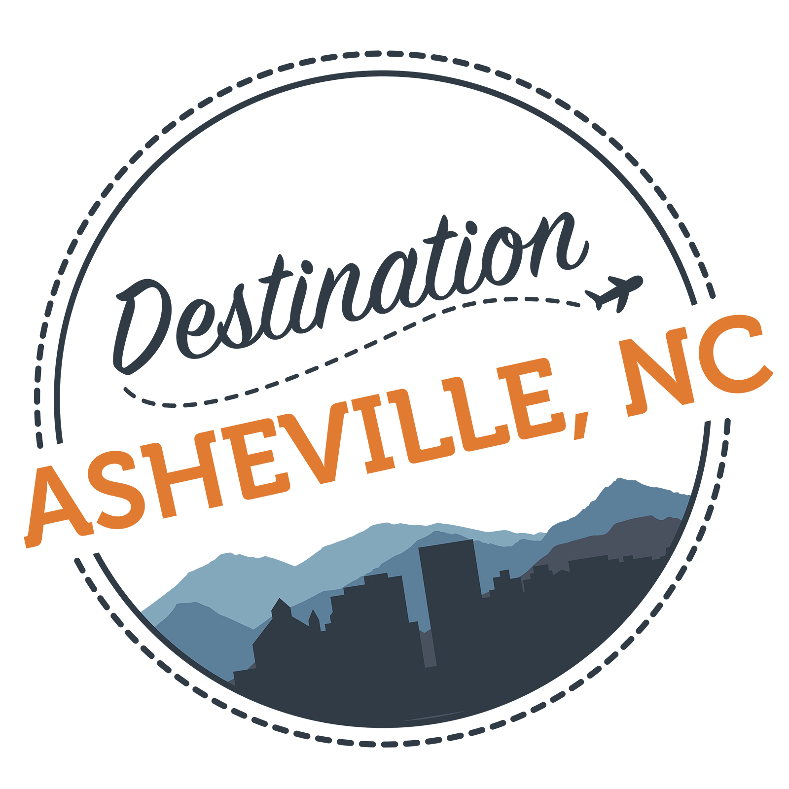 Destination Asheville Logo Full Color - Erica Zoller Creative