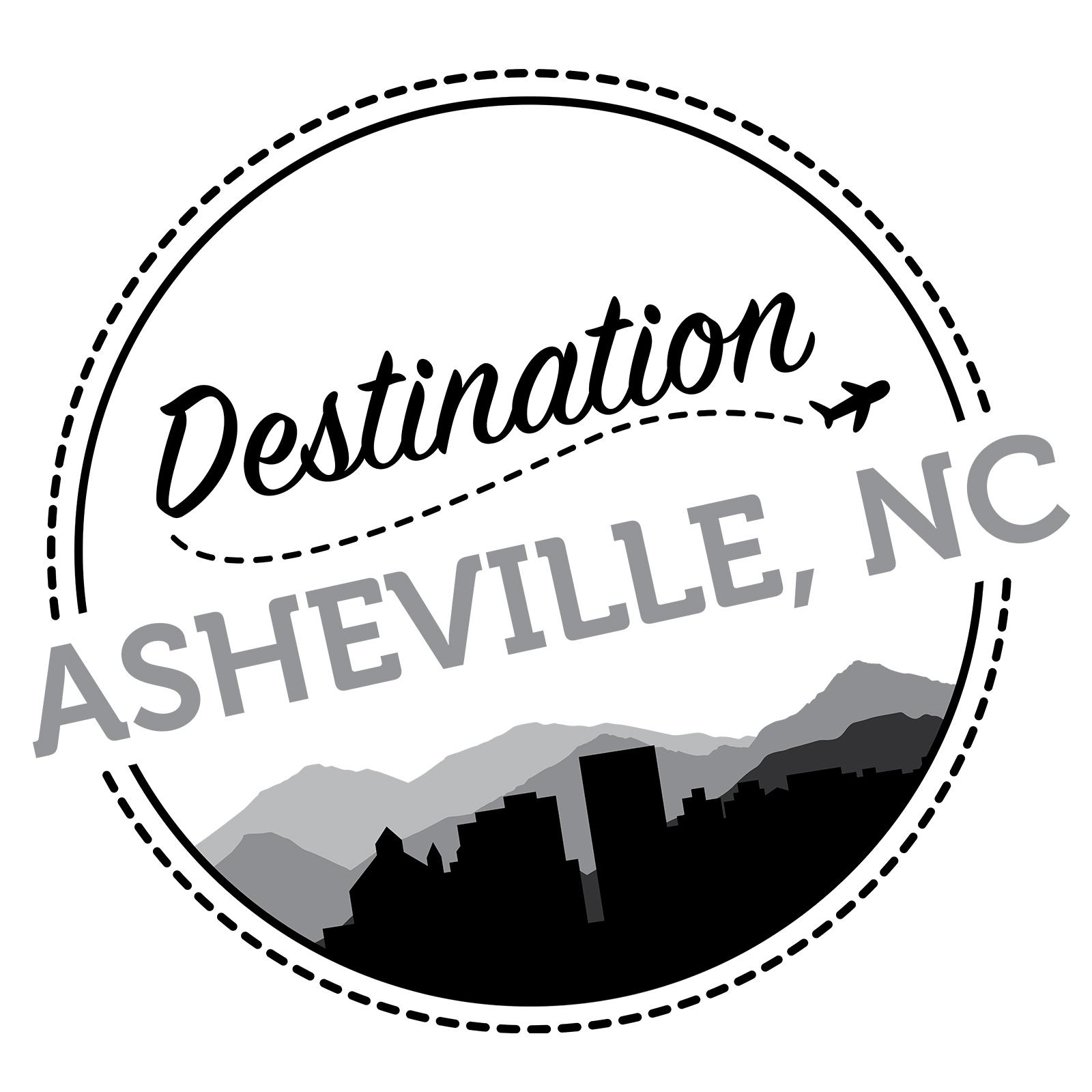Destination Asheville Logo Grey Scale - Erica Zoller Creative