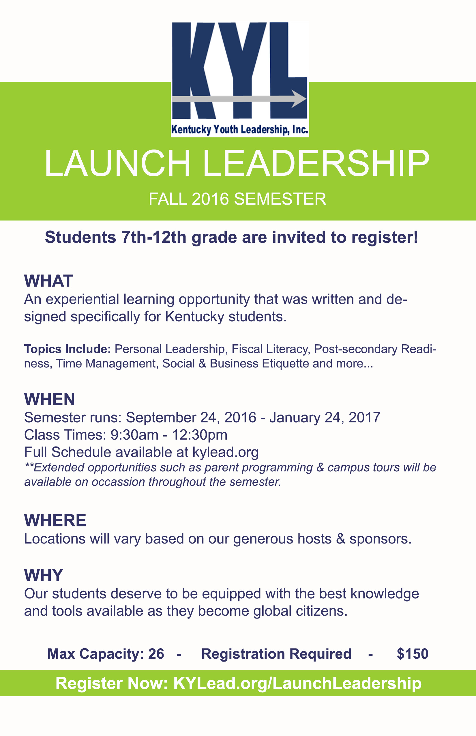 It's Finally Time! KYLead Presents: Launch Leadership