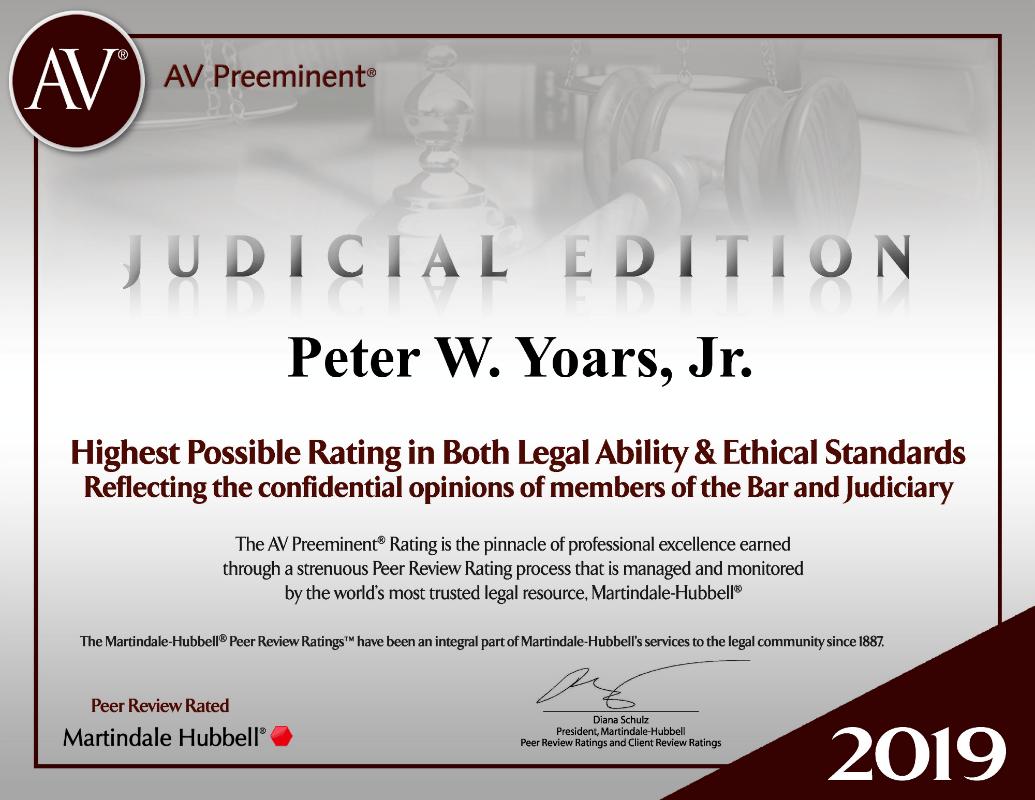 judicial edition peter yoars new york litigation attorney