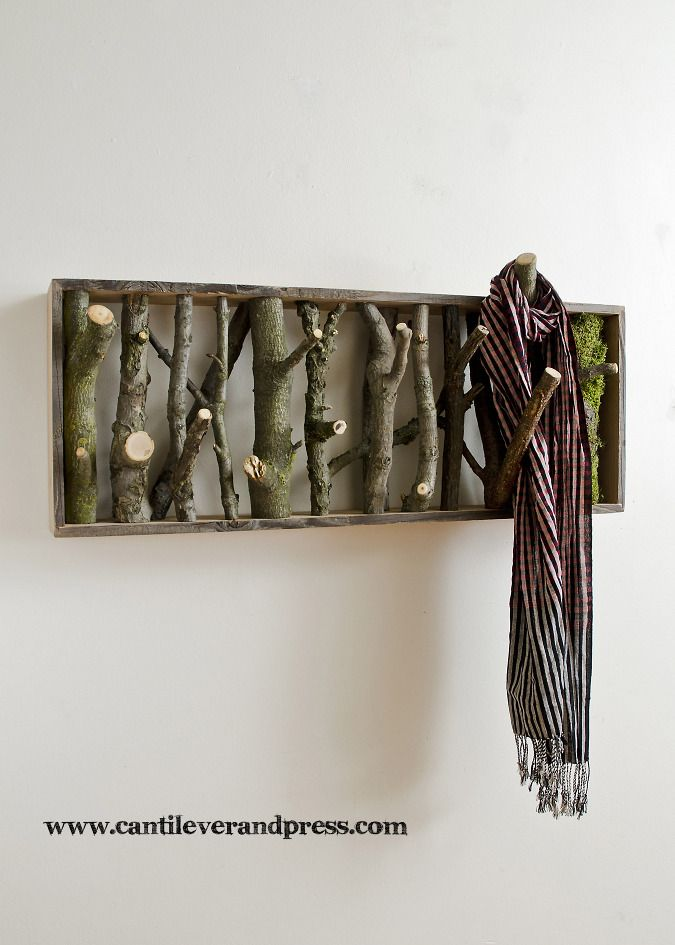Coat Rack. This would be so easy to make