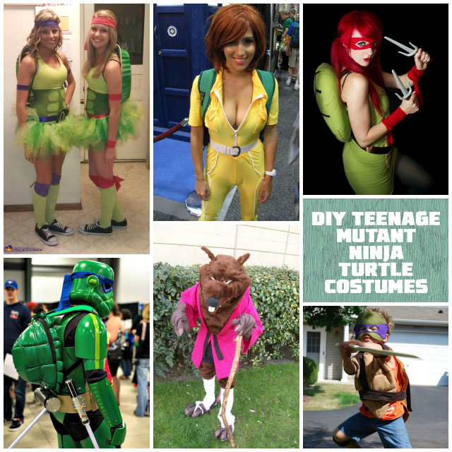 Homemade DIY Teenage Mutant Ninja Turtle Costumes