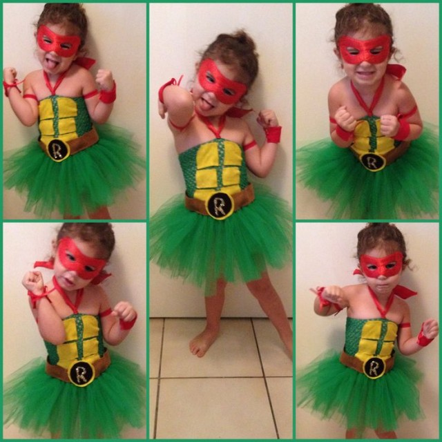 Homemade Ninja turtle costume for little girl