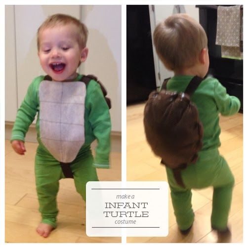 Make infant turtle costume