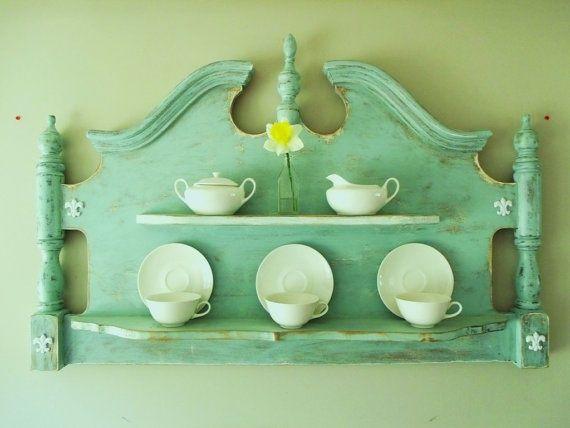 Original wall wood buffet from headboard
