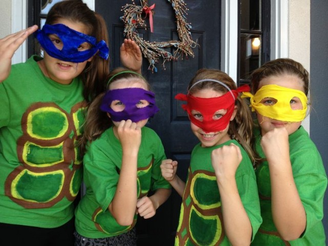Teenage Mutant Ninja Turtle quick easy costumes