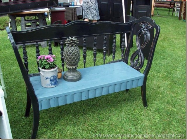 chair bench from headboard