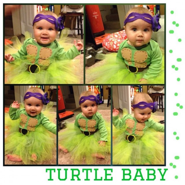 ninja turtles costume for my 7 month old girl