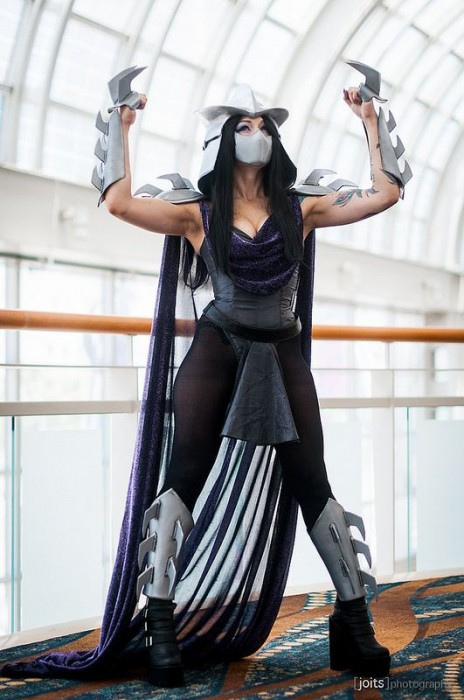 sexy female shredder cosplay costume