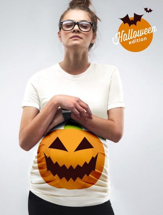 A Pumpkin Bump Maternity Halloween T-Shirt