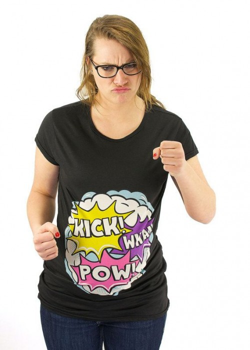 fighting sound effects maternity tshirt