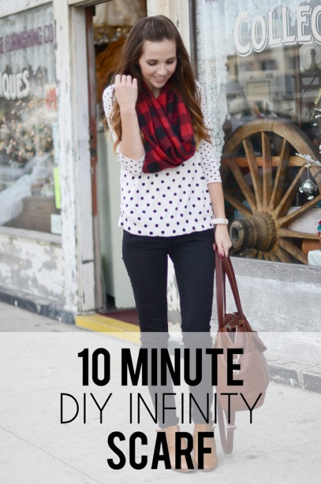 10 Minute DIY Infinity Scarf Babble