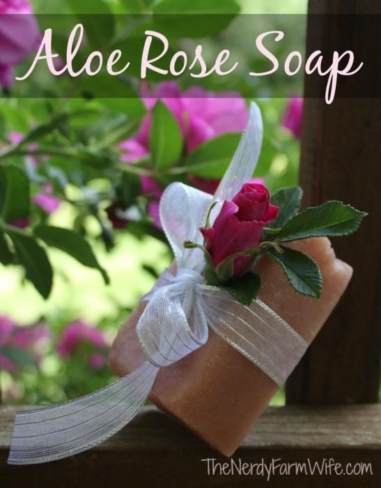 Aloe-Rose-Cold-Process-Soap-Recipe-palm-free  thenerdyfarmwife