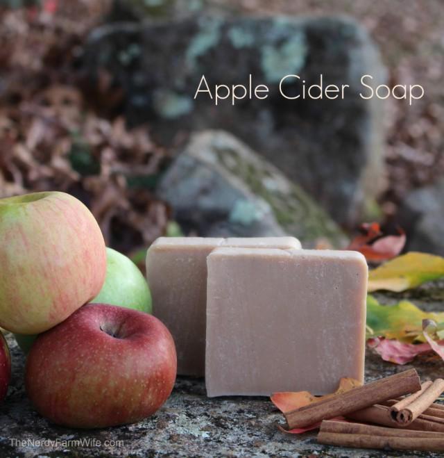 Apple-Cider-Soap-994x1024 thenerdyfarmwife