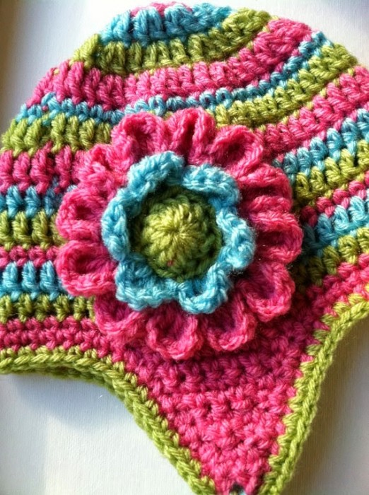 Crochet Flower Pattern Hat Dahlia Lakeview Cottage Kids