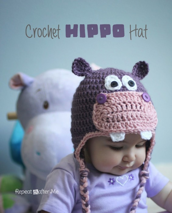 Crochet Hippo Hat Repeat Crafter Me