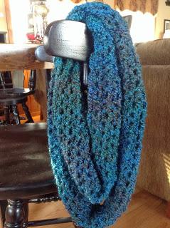 Crochet V Stitch Infinity Scarfs Northern Girl Stamper