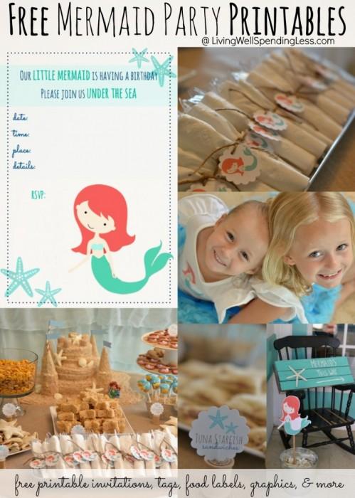 Free-Mermaid-Party-Printables livingwellspendingless