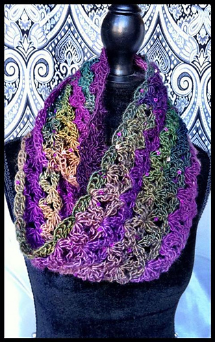 Infinity scarf Aquatic Blossoms Ravelry