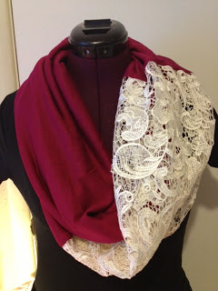 Lace Infinity Scarf MarysCraftsandQuilts