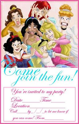 PRINCESS PARTY INVITATION FREE princesscoloringpages