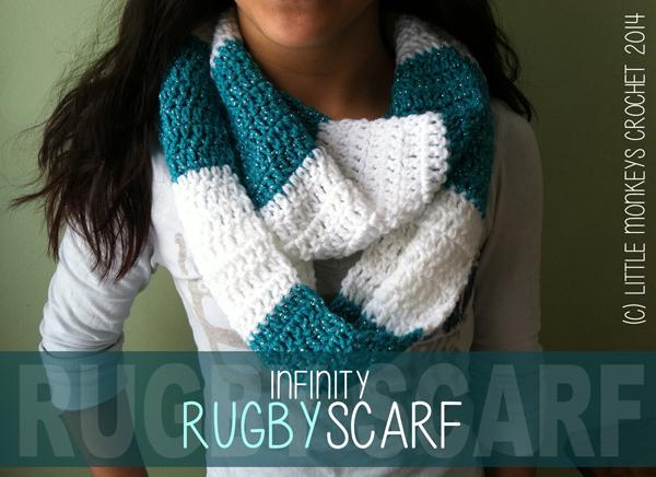 RugbyScarf LittleMonkeysCrochet