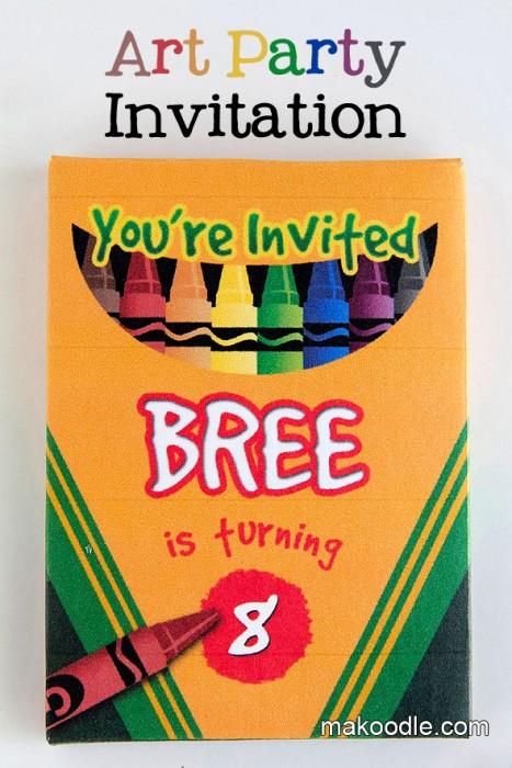 Art Birthday Party Invite