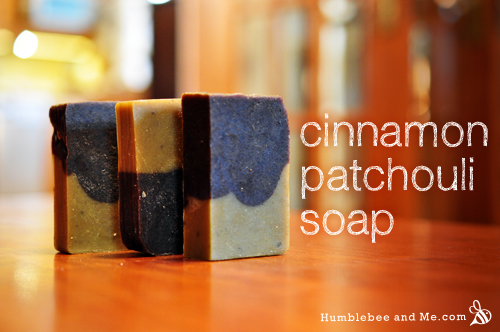 cinnamon and patchouli soap humblebee and me
