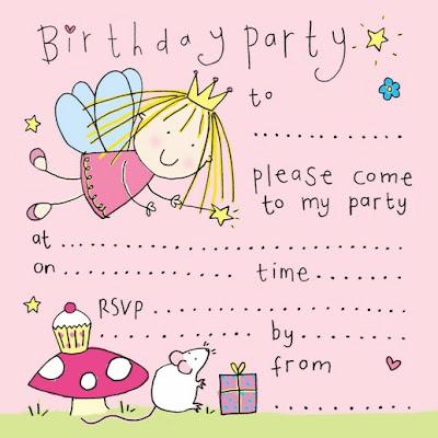 cute fairy party invitation freeprintabletemplate blogspot
