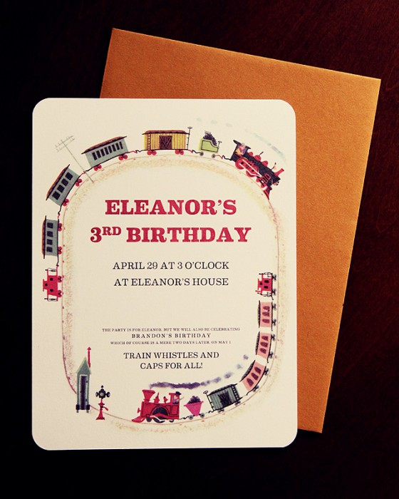 Train to Timbuctoo Party Invitations