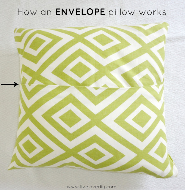 how an envelope pillow works