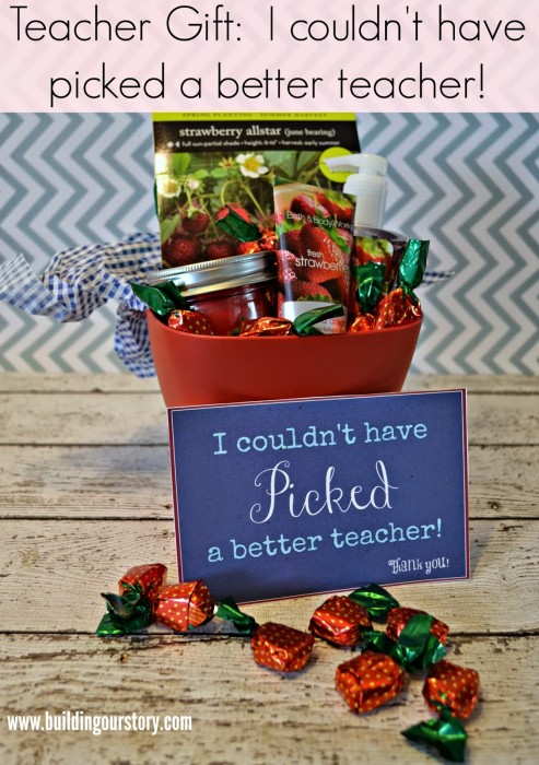 #DIY End of Year Teacher Gift I Couldn't Have Picked A Better Teacher 1