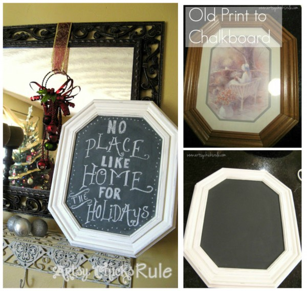 Thrift-Store-Framed-Print-turned-Chalkboard-chalkpaint-artsychicksrule.com_-600x568