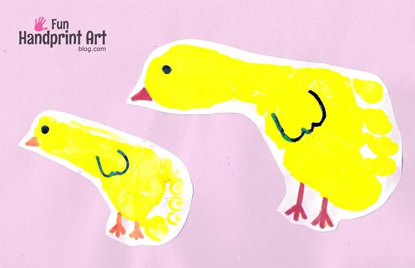 Footprint-Chicks-Easter-Craft-for-Kids