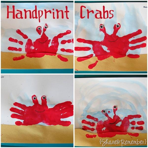 Handprint Crabs Preschool Craft Ocean Theme_thumb[1]