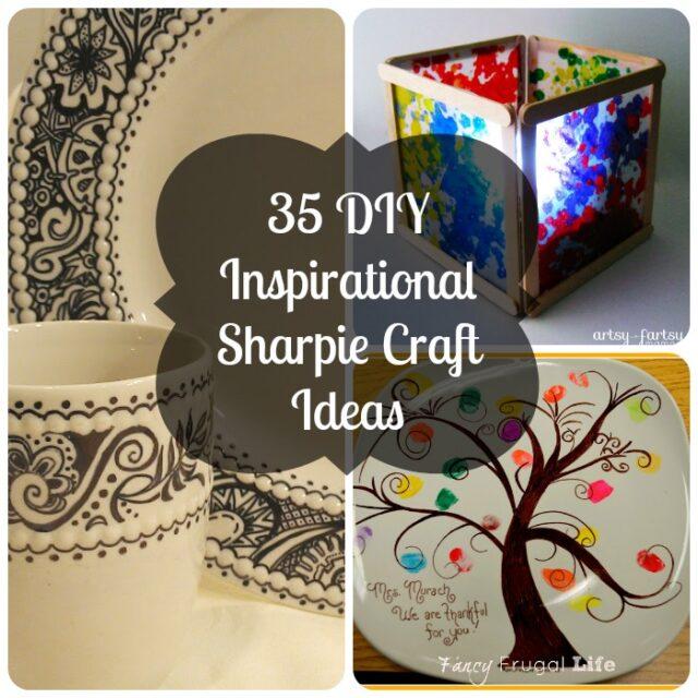 35 DIY Inspirational Sharpie Craft Ideas