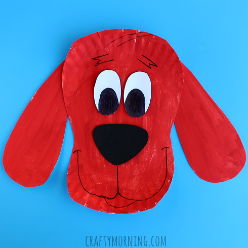 paper-plate-clifford-dog-kids-craft
