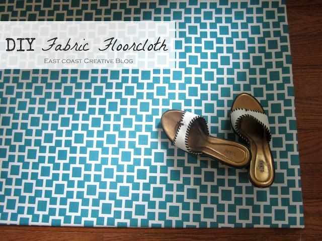 DIY Fabric Floor cloth