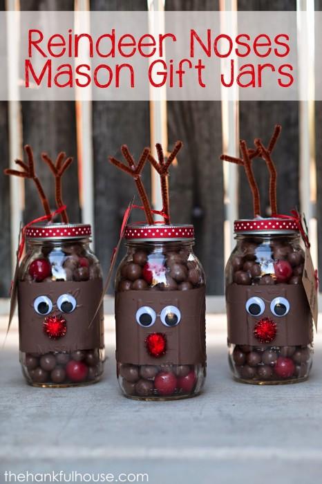Reindeer Noses Gift Jar