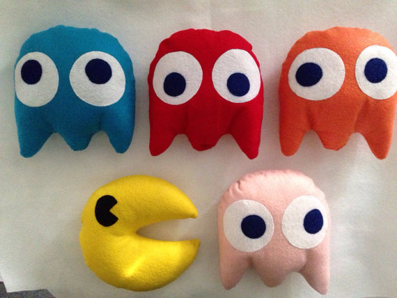 Felt Stuffed Toys Inspired by Pac Man at Etsy