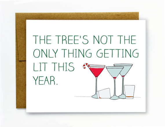 Holiday Drinking Card