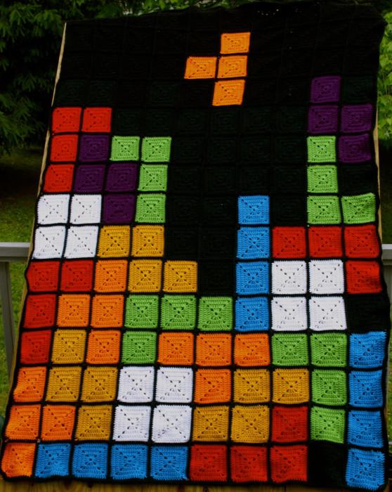 Tetris Game Blanket